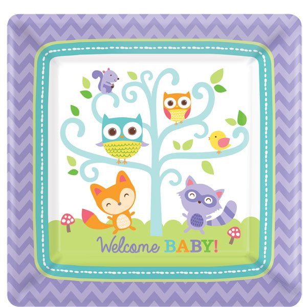 Buy Woodland Baby Themed Baby Shower Party Decorations in the uk