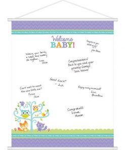 Woodland Baby Party Baby Shower Sign In Sheet
