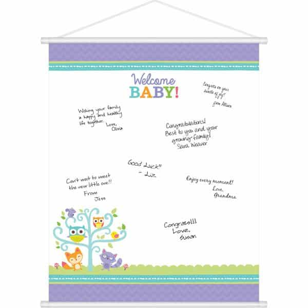 woodland baby party woodland baby party baby shower sign in sheet