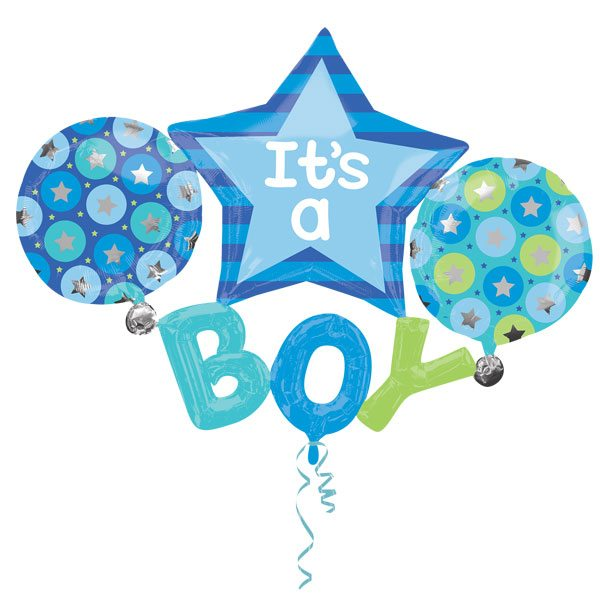 It's A Boy Party Balloon Multi Balloon
