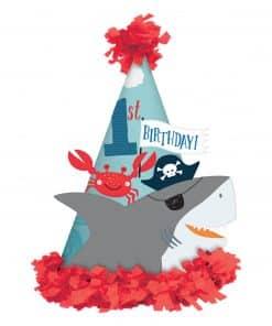 Ahoy Birthday 1st Birthday Cone Hat
