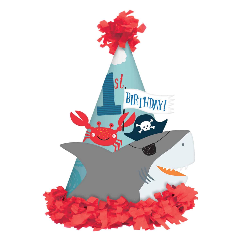 Ahoy Birthday 1st Cone Hat