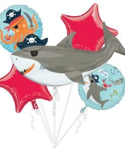 Ahoy Birthday Party Foil Balloon Bouquet