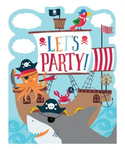 Ahoy Birthday Party Invitations with Stickers