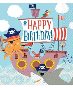 Ahoy Birthday Luncheon Napkins 33cm