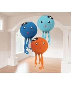 Ahoy Birthday Party Octopus Lanterns