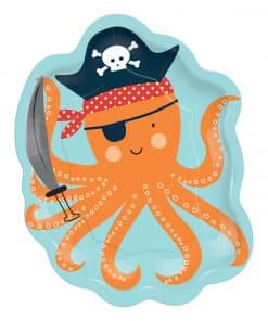 Ahoy Birthday Party Octopus Shaped Paper Plates
