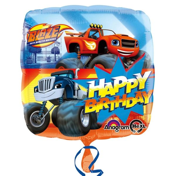 Blaze and the Monster Machines Party Happy Birthday Foil Balloon