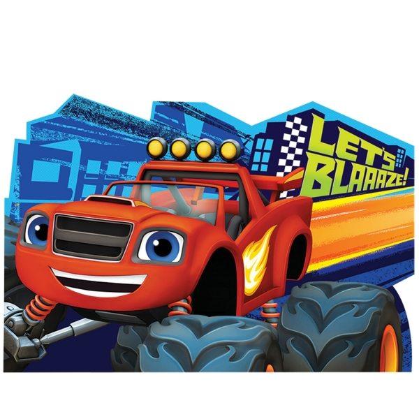 Blaze Monster Truck themed party invites