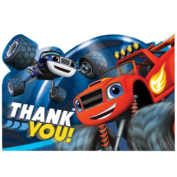 Blaze & The Monster Machines Party Thank Yous