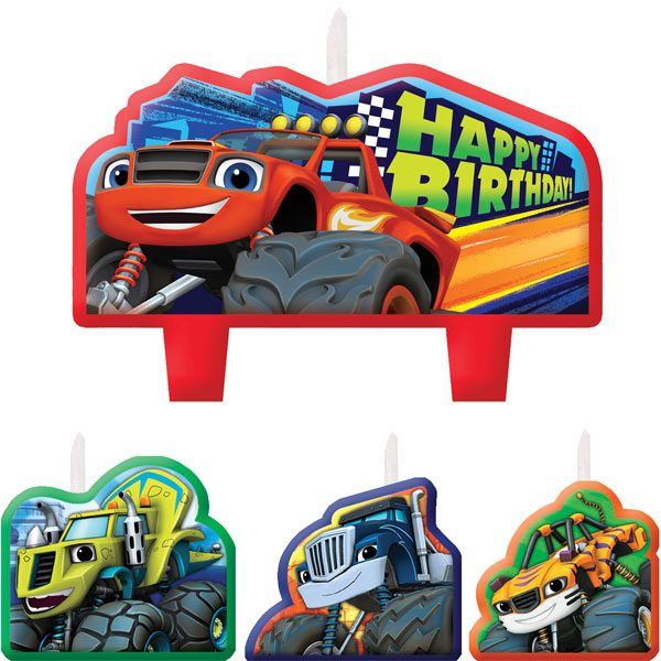 Blaze & The Monster Machines Party Birthday Cake Candles