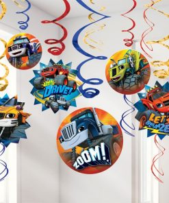 Blaze and the Monster Machines Party Hanging Swirls Decorations
