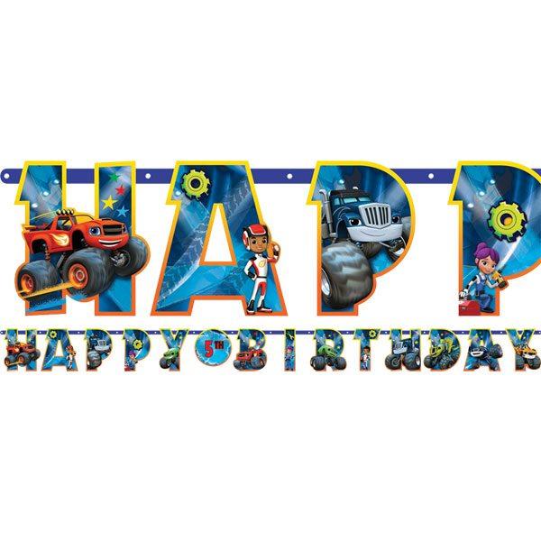 Blaze Amp The Monster Machines Party Jumbo Letter Banner