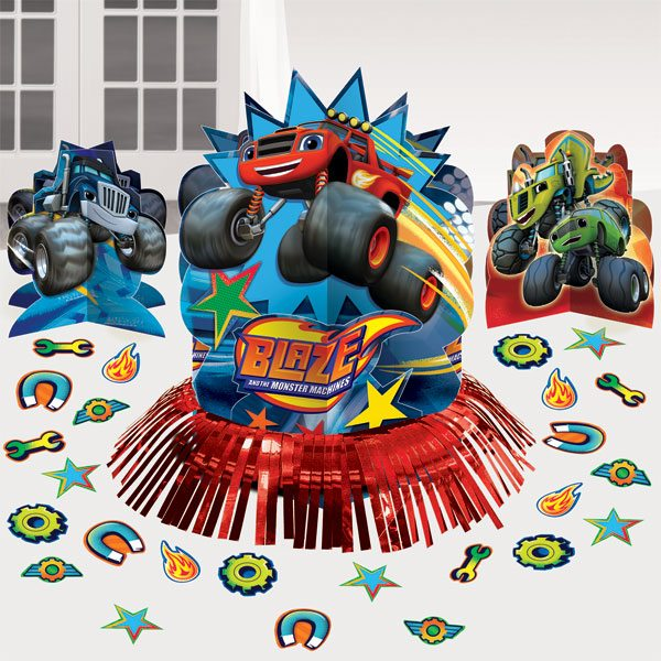 Blaze and the monster machines party table decorating kit