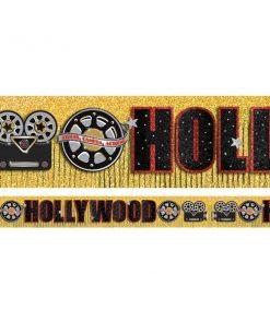 Hollywood Lights Party Glitter Fringe Banner