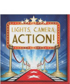 Hollywood Lights Party Paper Napkins