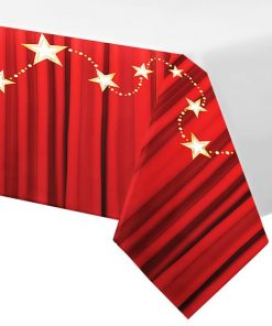 Hollywood Lights Party Plastic Tablecover