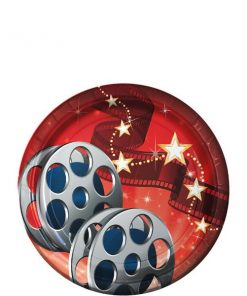 Hollywood Lights Party Paper Plates 18cm