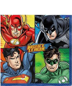 Superheroes Justice League Party Paper Napkins