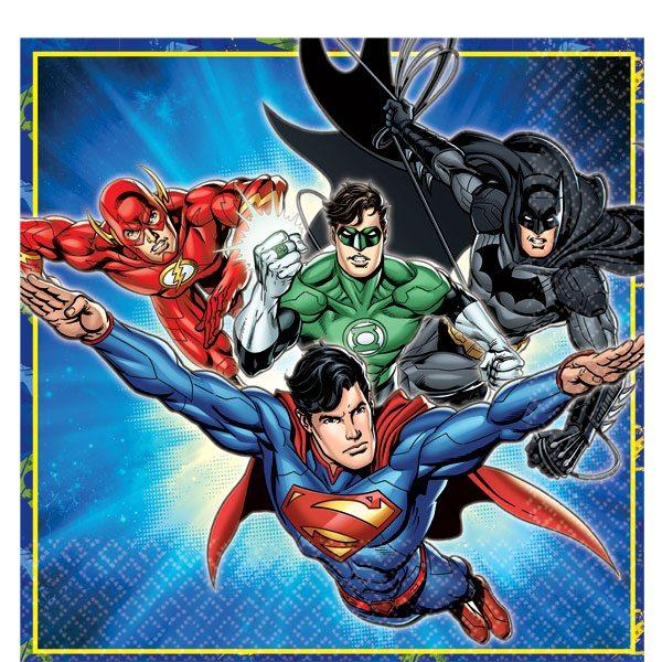 Superheroes Justice League Party Paper Napkins