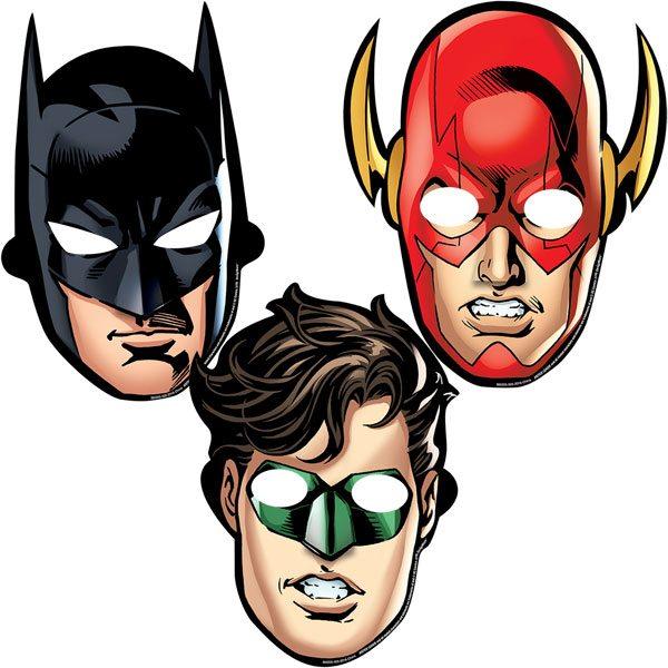 Superheroes Justice League Party Masks