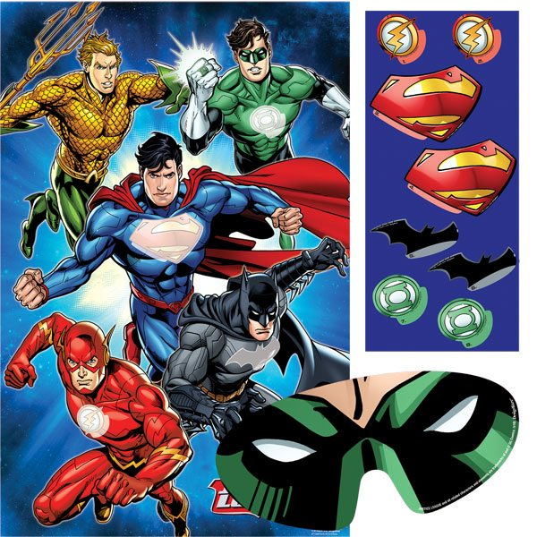 Superheroes Justice League Party Game for 8