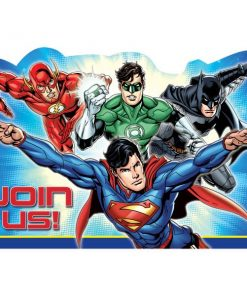 Superheroes Justice League Party Invitations
