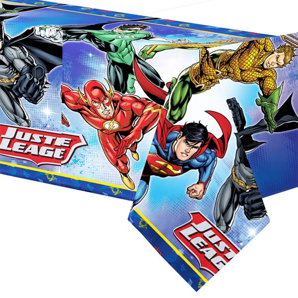 Superheroes Justice League Party Plastic Tablecover