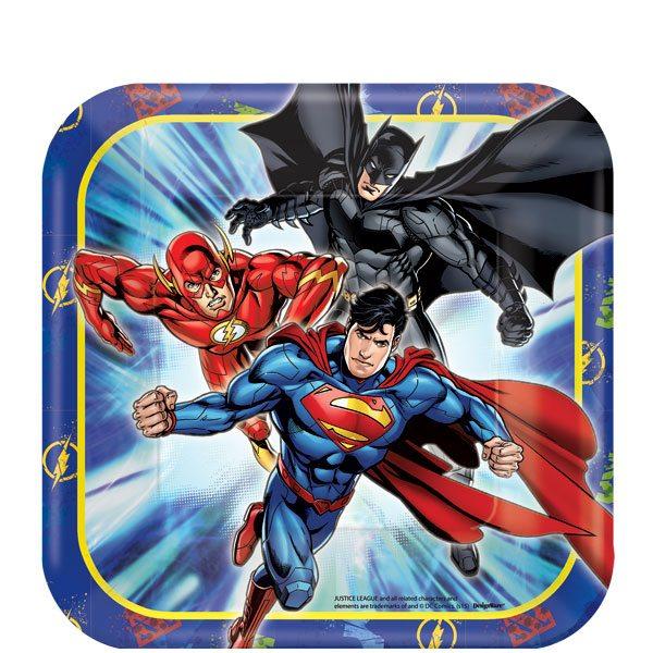 Justice League Party Paper Plates - 17cm