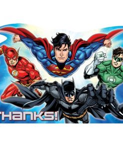 Superheroes Justice League Party Thank You Cards