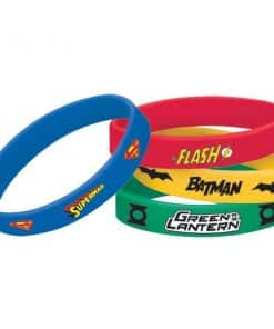 Superheroes Justice League Party Bag Fillers - Wrist Bands