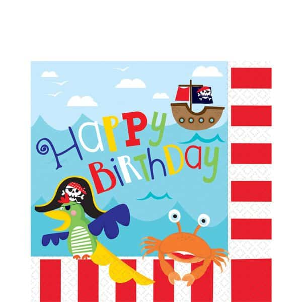 Little Pirate Party Beverage Paper Napkins