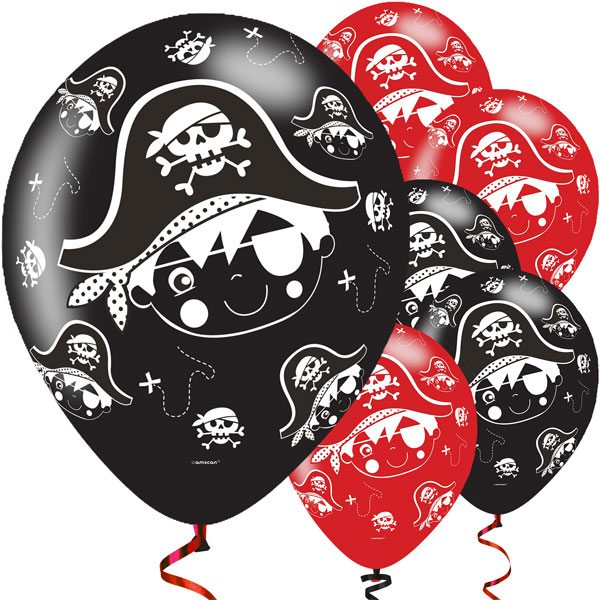 Little Pirate Party Printed Latex Balloons