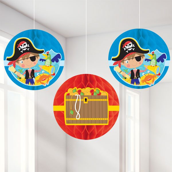 Little Pirate Party Hanging Honeycomb Decoration