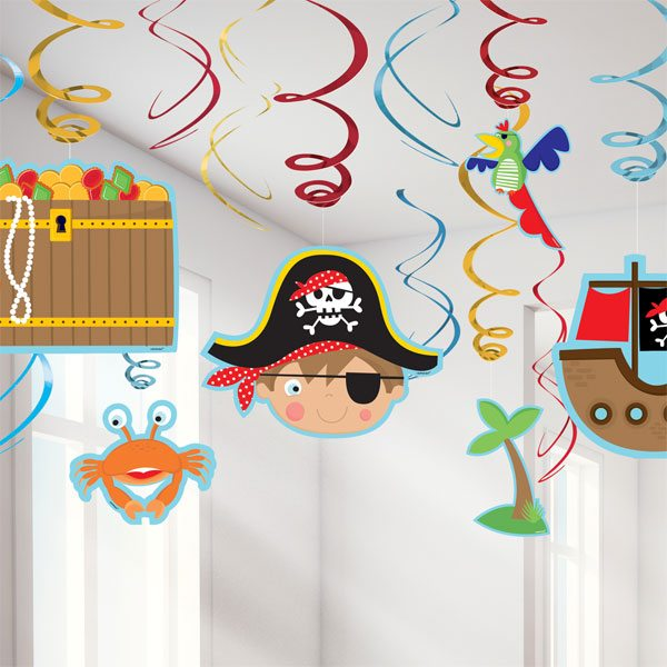 Little Pirate Party Hanging Swirl Decorations