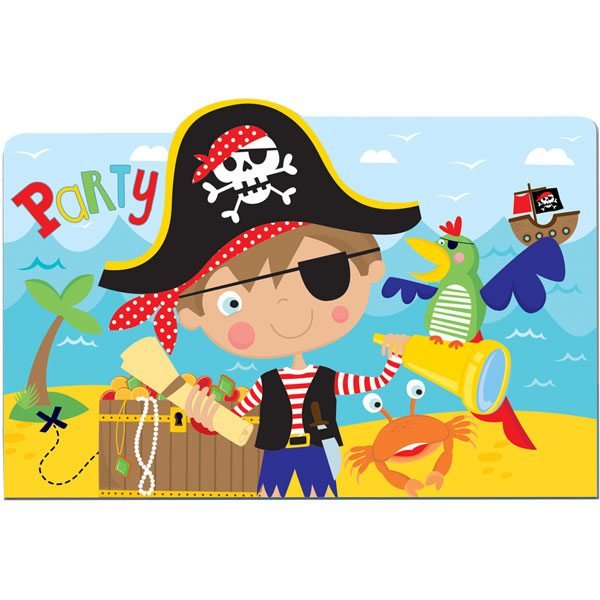 Little Pirate Party Invitation Cards