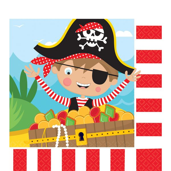 Little Pirate Party Paper Napkins