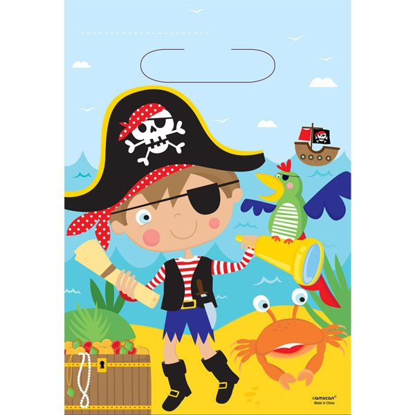 Little Pirate Party Plastic Loot Bags