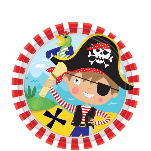 Little Pirate Party Paper Plates - 17