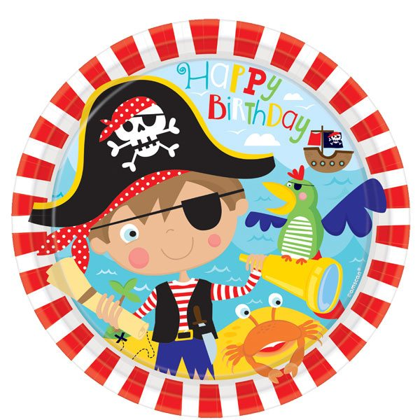 Little Pirate Party Paper Plates