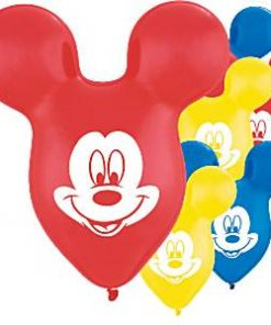 Mickey Mouse Ear Shaped Latex Balloons
