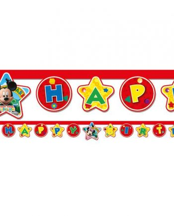 Mickey Mouse Party Happy Birthday Letter Banner