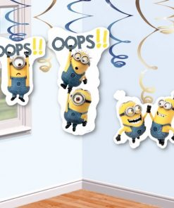Minions Party Hanging Swirls Decorations