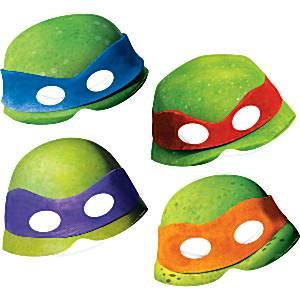 Ninja Turtle Party Card Masks