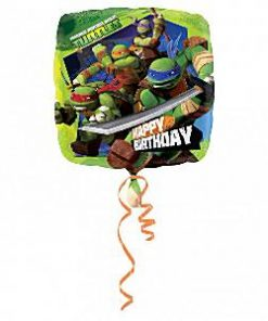 Ninja Turtle Party Happy Birthday Foil Balloon