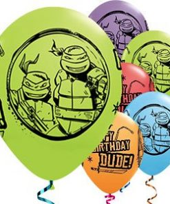 Ninja Turtle Party Printed Latex Balloons