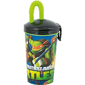 Ninja Turtles Party Bag Fillers - Plastic Cup with Straw