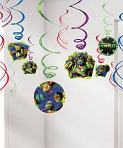 Ninja Turtles Party Hanging Swirl Decorations