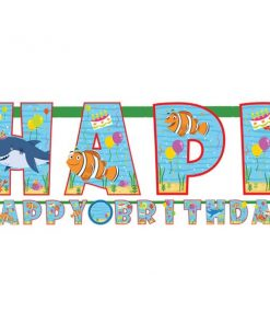 Ocean Buddies Party Add an Age Letter Banner