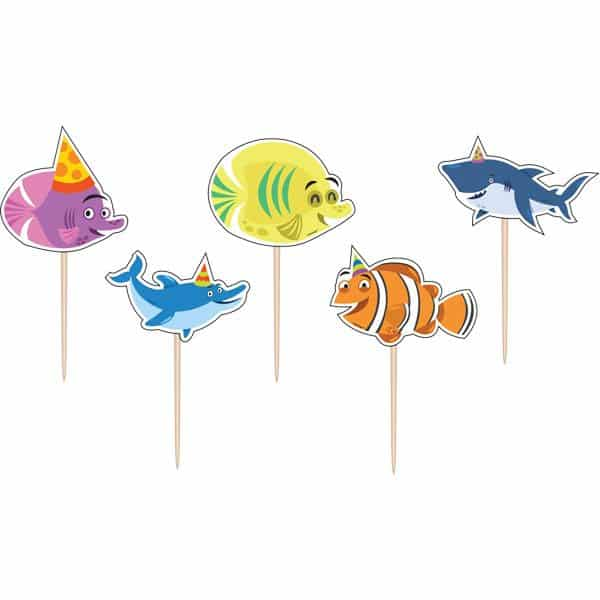 Ocean Buddies Party Birthday Cake Candles